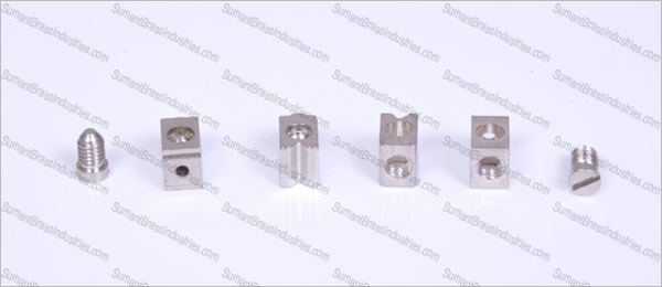 Brass modular switch parts nickel plated